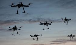 Droni in volo ravvicinati
