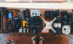 Attrezzatura travel vlogging con drone