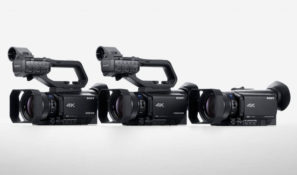 3 camcorder Sony: Sony: AX700, NX80 e Z90