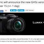 I rumors sulla Panasonic GH5s